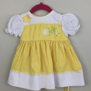 Other - B t kids yellow & white gingham dress 12mos